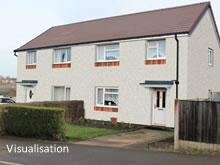 Visualisation of finished solid wall insulation, Rykneld