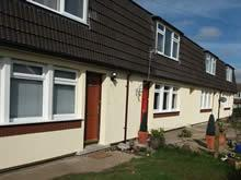One of Hereford Housing's properties, newly fitted with external wall insulation